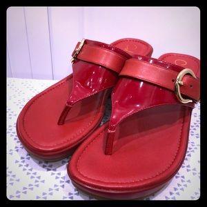 Nike Air Cole Haan sandal red 6